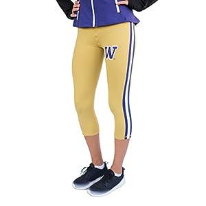Twin Vision Activewear Washington Huskies NCAA Women's Yoga Capri Pant (Gold)