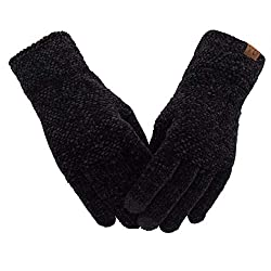 ViGrace Winter Touchscreen Chenille Gloves for Women & Get Ready to Cold Winter! Our women's chenille gloves are warm and fit, stretchy and not bulky. It can not only thermal your hands,but you also need not take them off when you an...