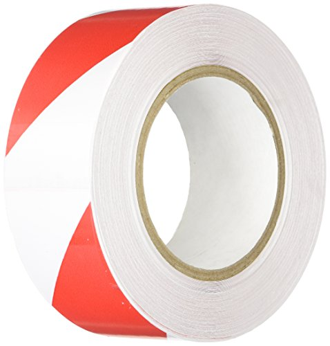 Marking Tape Aisle Red (Heskins FLOOR2A Red and White Tapeline Floor Marking Tape, 98' Length, 2