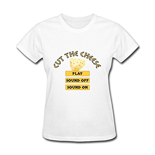 Husba Womens's DIY Cut The Cheese T-shirt White XXL -