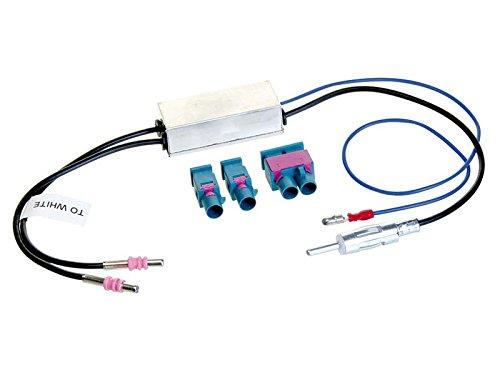 ACV 1524-70 Din 2X Fakra auf 1x Doppel-Fakra Antennenadapter fü r VW/Audi