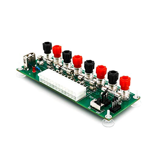 Shentesel 20/24Pins ATX Benchtop Power Board PC Computer Breakout Adapter Switch Module