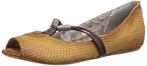 Mjus 290109-2880-8789 - Sandalias de vestir de cuero para mujer marrón - Braun (ocra+cotto)