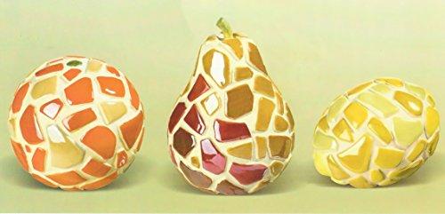 - Grasslands Road Farmers Market Ceramic Mosaic Fruit Set