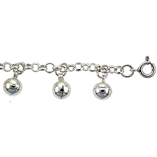 Sterling Silver Anklet Bells fits