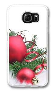 Christmas Balls 9 PC Case Cover for Samsung S6 and Samsung Galaxy S6 White