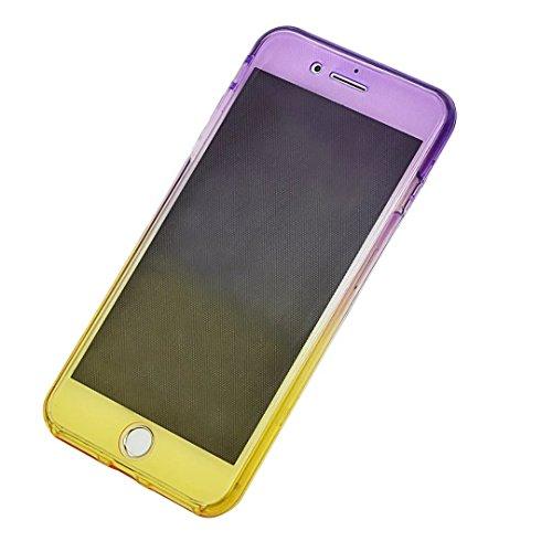 Funda Doble para iPhone 7/iPhone 8, Vandot Bling Brillo Carcasa Protectora 360 Grados Full Body | TPU en Transparente Ultra Slim Case Cover | Protección Completa Delantera y Trasera Cocha Smartphone M JBQB 01