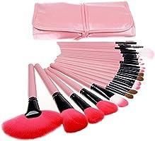 Kit 24 Pinceis Maquiagem, Rosa