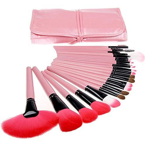 Kit 24 Pinceis Maquiagem Estojo Premium Pincel Profissional