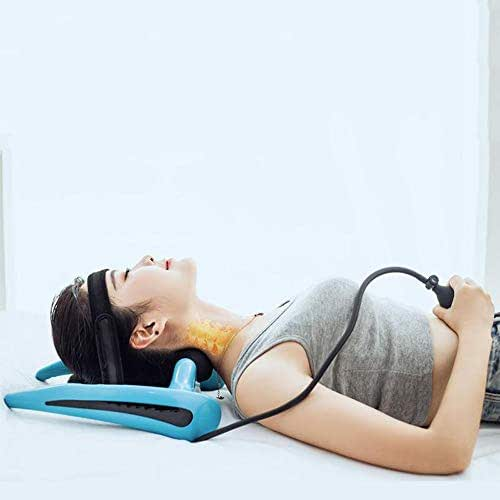 LLYU Inflatable Cervical Neck Traction - Multifunction Curvature Correction Improve Spine Physical Correction Alignment Reduce Neck Pain