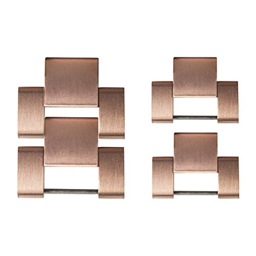 Wearlizer Metal Watch Band Links Replacement - Rose Gold