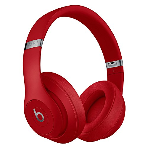 Beats by Dr. Dre Studio_3 Wireless Bluetooth Over Ear Headphones in Red with Carrying case