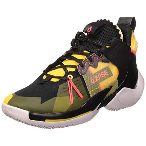 chollos oferta descuentos barato Jordan Why Not Zer0 2 Se Zapatillas de Baloncesto para Hombre Black Flash Crimson Amarillo Vast Grey 40 EU
