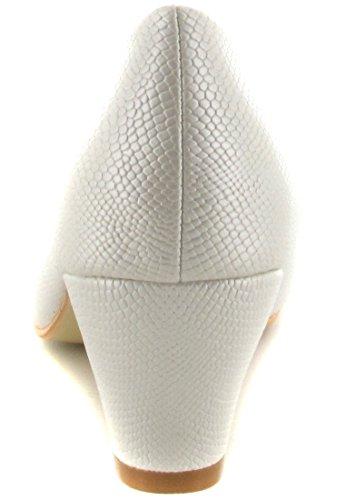 Andres Machado - Zapatos de vestir de Material Sintético para mujer Blanco blanco