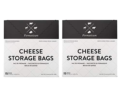 Formaticum Cheese Storage Bags, Keep Charcuterie Fresh, Wax Paper Bags, 30 Count