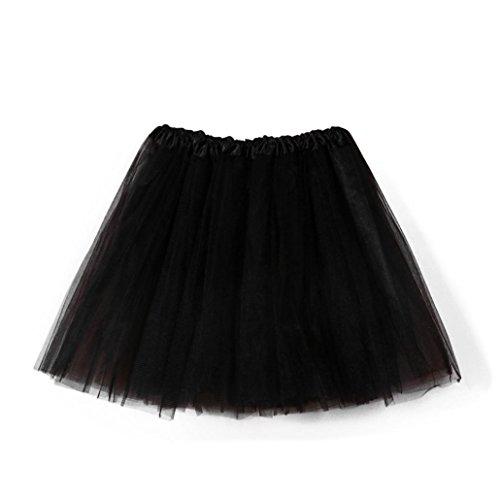 AIMEE7 Filles Jupe Mode Plisse Jupe Courte Chic Elgant Danse Ballet Tutu en tulle Jupe Noir