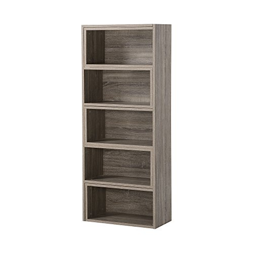 Homestar ZH141581R  Expandable Shelving Console, Brown by Home Star