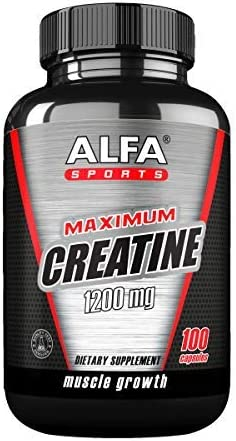 Maximum Creatine Monohydrate 1200 Mg 100 Capsules. Muscle Mass – Muscle Growth – Post Workout Recovery. Reduces Effects of Lactic Acid