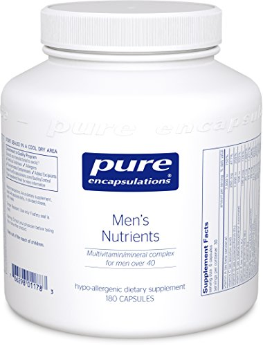 Pure Encapsulations – Men's Nutrients – Hypoallergenic Multivitamin/Mineral Complex for Men over 40-180 Capsules Review