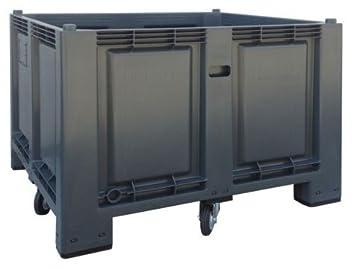 Cargopallet 700 PLUS gris industrial con 4 ruedas, 1200 x 1000 xh870: Amazon.es: Jardín