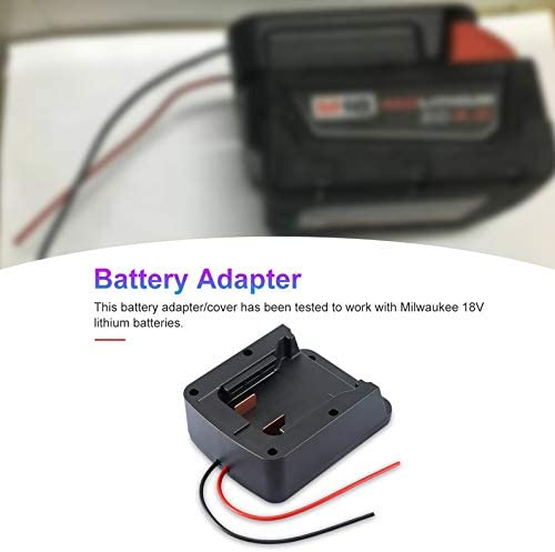 Adapter Converter For Milwaukee M18 18V Li-ion Battery To DIY Cable Output