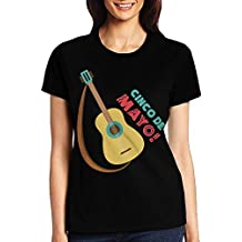 GsShan08 Women's Acoustic Guitar T-Shirt,Short Sleeve Tee For Woman