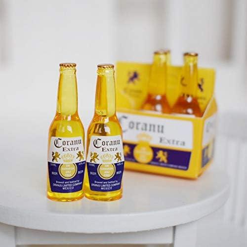 Casa de muñecas en miniatura escala 1//12th Conjunto de 3 mal en forma torcida Etiqueta botellas de cerveza