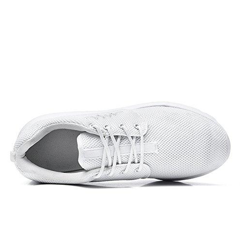 IceUnicorn Damen Leichtgewichtige Sportschuhe Runners Sneakers Freizeit Laufschuhe Weiß