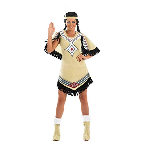 fun shack Womens Native American Beige Dress,