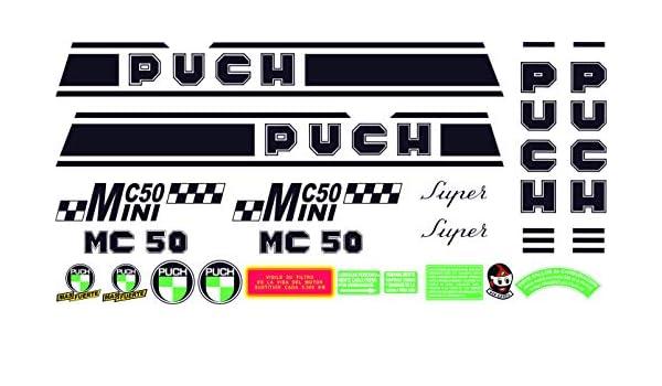 Juego Pegatinas Completo Vinilo para Moto Kit de adhesivos motos clasicas Puch MINICROSS Super m/áxima Calidad.