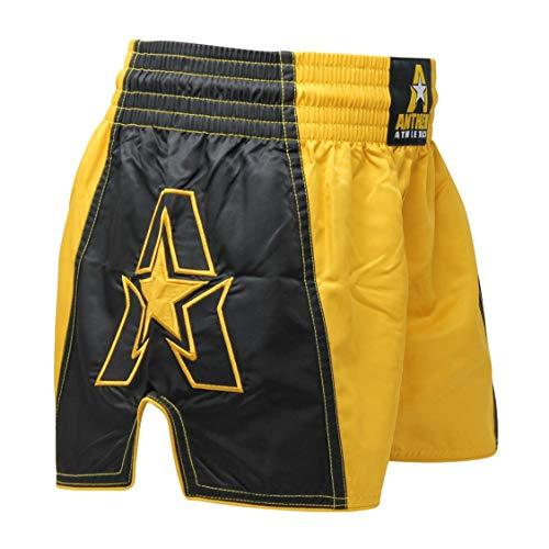 Anthem Athletics Infinity G2 Muay Thai Shorts - Kickboxing, Thai Boxing - Gold & Black G2 - XX-Large