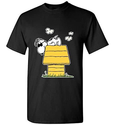 Lazy Joe Cool Snoopy Funny T-Shirt Black