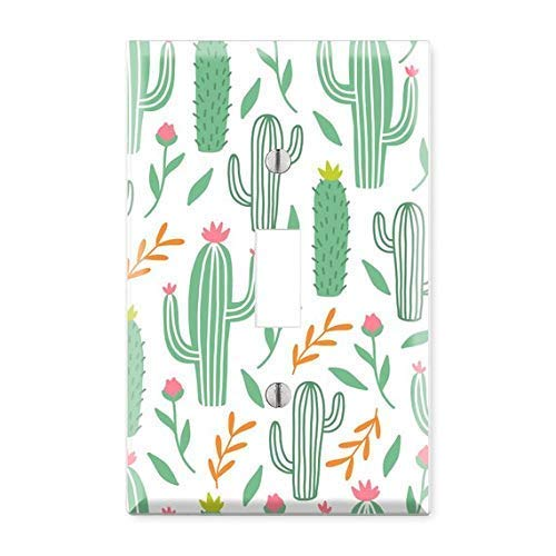 Cactus Desert Light Switch Cover, Cactus Light Switch Plate, Cactus Plate Cover, Cactus Lover, Nursery Light Switch, Kids Room Decor TF2 (Cactus Switch Cover)