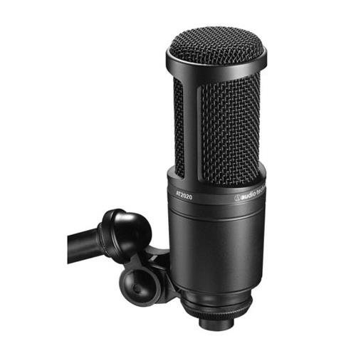 Audio-Technica AT2020 Cardioid Condenser Studio XLR Microphone, Black by Audio-Technica