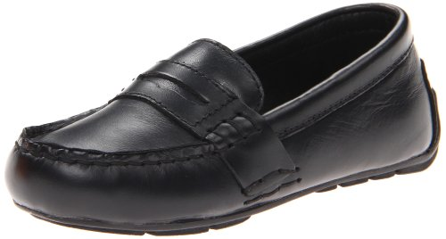 Polo Ralph Lauren Kids Telly Loafer ,Black,1.5 M US Little K