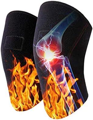LilyAngel 自己発熱膝パッド 古いコールドレッグス膝パッド 高齢者の関節膝パッド 高品位通気性ウィッキング膝パッド ユニセックス (Color : ブラック)