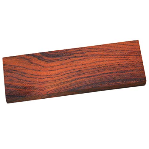 (tong gu Wood Knife Scale Handle Blanks Cocobolo Rosewood DIY Knife Making Wood Turning 4.7 Inches (Pack of 2))