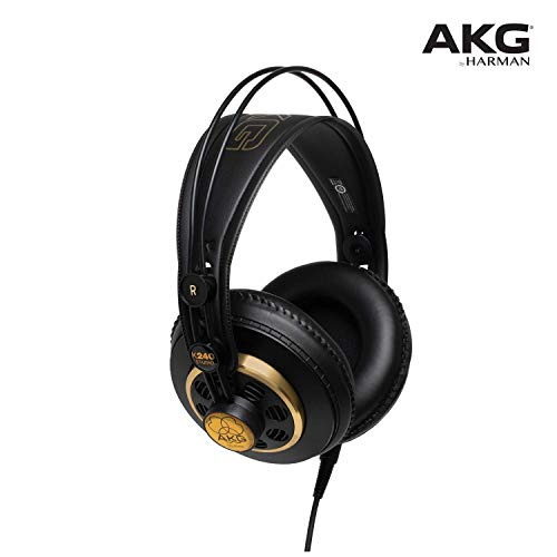 AKG K240STUDIO Semi-Open Over-Ear Professional Studio Headphones (Renewed)