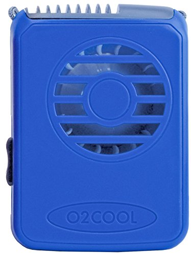 O2COOL Deluxe Necklace Fan, Blue