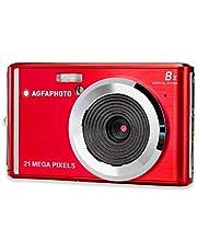 AGFA Photo – compacte digitale camera met 21 megapixel CMOS-sensor, 8x digitale zoom en LCD-display rood, Single, rood