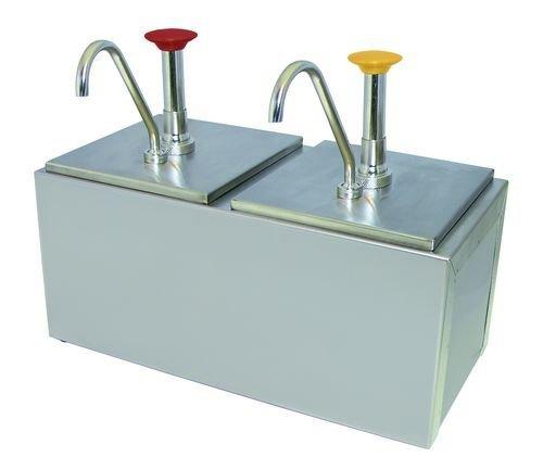 Update International CPD-206 Double Pump Condiment Dispenser, 6'' by Update International