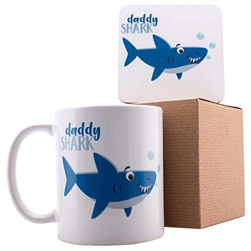 Personalized Shark Family Daddy Shark Coffee Mugs  11oz Ceramic Mugs  Birthday Gifts Motherquots Day Gifts Fathers Day Gifts Christmas Gifts