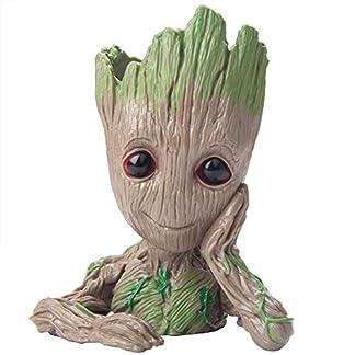 Exmart Groot Pen Stand Green Plant Flower Pot Marvel The Guardians of Galaxy Treeman 41PwoVDEVHL