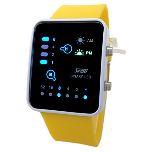 technological-sense-binary-digital-led-waterproof-unisex-sport-wrist-watches-yellow