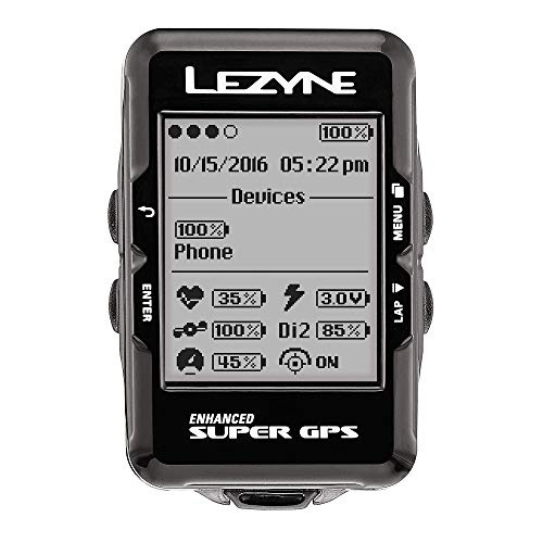 LEZYNE Enhanced Super GPS Cycling Computer Black]()
