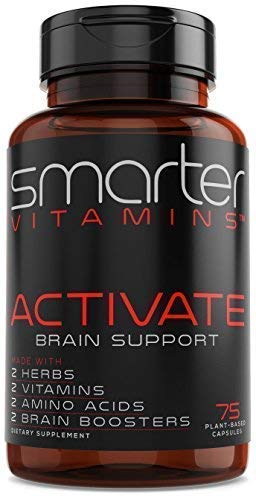 Brain Support Supplement Promotes Memory + Clarity, Brain Health + Brain Function, Premium Brain Vitamins for Focus W/Bacopa 50%, Alpha-GPC, L-Dopa, L-Theanine, Vitamin B3 + B6