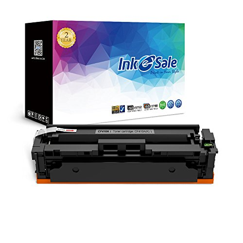 INK E-SALE Compatible 410A CF410A Black Toner Cartridge for Used in Color LaserJet Pro MFP M477fdn M477fdw M477fnw,Pro M452dn M452nw M452dw Printers, 1 Pack