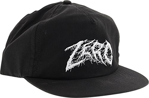 Zero Skateboards Demon Text Black Snapback Hat - Adjustable