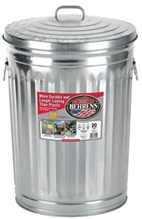 Behrens 1211 Garbage Can with Side Drop Handles, 20 gallon 1211K