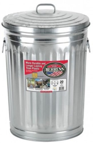 Garbage Can With Side Drop Handles - 20 Gallon (Lid Side)